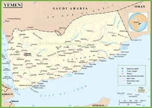 map of with towns large detailed map of yemen with cities and towns