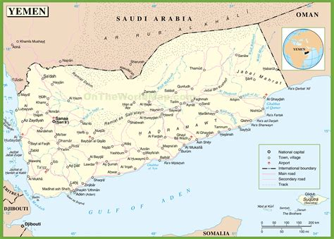 printable map of yemen large detailed map of yemen with cities and towns