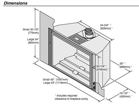 Gas Fireplace Insert Dimensions by Gas Fireplace Inserts Dimensions Crafts