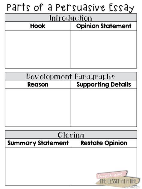 Persuasive Essay Prewriting Worksheet by Prewriting Activities For Persuasive Essays