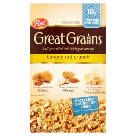 9 whole grain crunch cereal post 174 great grains 174 banana nut crunch whole grain cereal