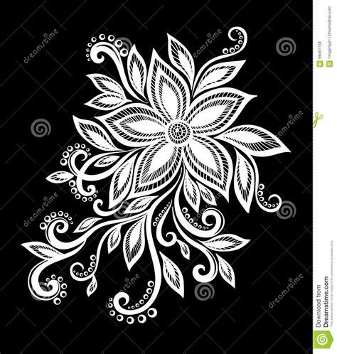 bloemen zwart wit tekening mooie zwart wit zwart witte bloemen en bladeren vector