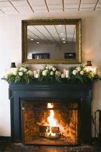 Decor For Fireplace White And Green Mantel Garland Flower Fireplace Mantels