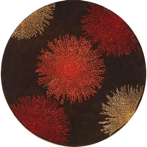 Safavieh Soho Brown Assorted Wool 6 Ft X 6 Ft Round Area 6 Foot Area Rugs