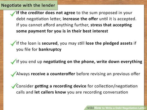 Loan Negotiation Letter how to write a debt negotiation letter with pictures wikihow