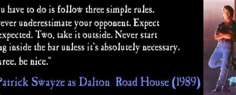 road house quotes road house banner tough guy wisdom