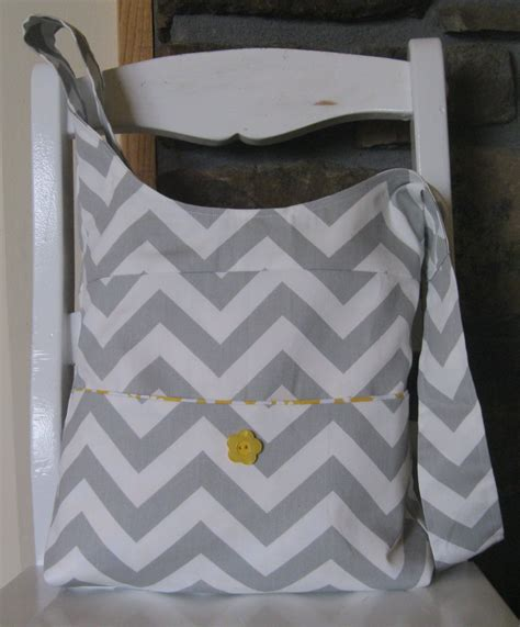 Handmade Fabric Bags - items similar to handmade fabric bags purses chevron bag