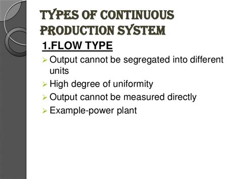 Types Of Production System Mba by Types Of Production System