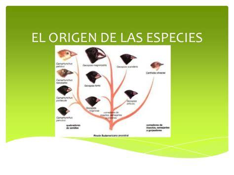 el origen de la 8415996063 el origen de las especies