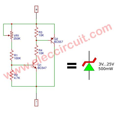 variable zener diode circuit variable zener diode circuit electronic projects circuits