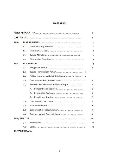 contoh format daftar isi yang benar contoh daftar isi makalah nkri contoh 36