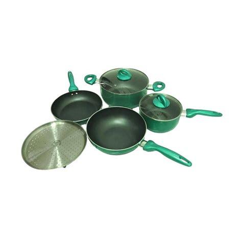 Wok Pan Supra jual supra rosemary cookware set green 7 pcs harga kualitas terjamin blibli