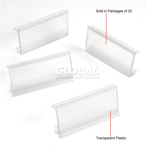 Wire Shelf Label Holders by Wire Shelving Accessories Components Clear Label