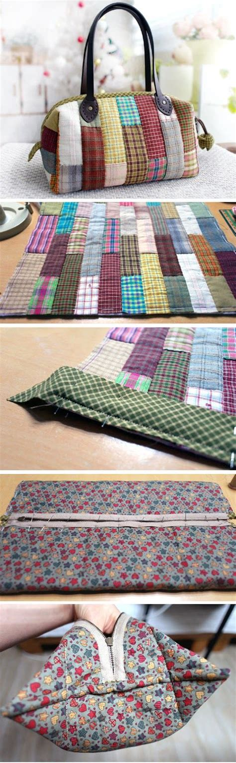 How To Do Patchwork Step By Step - patchwork boston bag photo sewing tutorial step by step