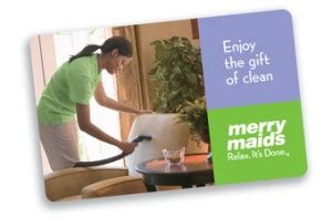 Merry Maids Gift Card - gift cards merry maids