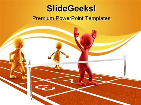Winner Sports Powerpoint Templates And Powerpoint Backgrounds 0611 Graphics Presentation Sports Powerpoint Templates Microsoft