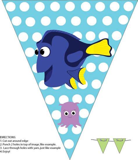 printable fish banner dory banner finding nemo birthday party pinterest