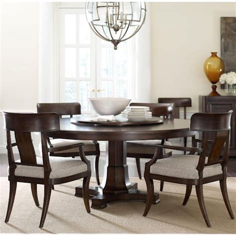 Dining Room Set With Lazy Susan Thomasville 174 Harlowe Finch Five Adelaide Dining