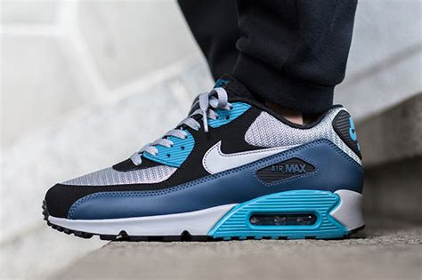 Nike Air Max 90 Essential Squadron 537384 414 Running Shoes Oss nike air max 90 essential squadron blue wolf grey sneakerfiles