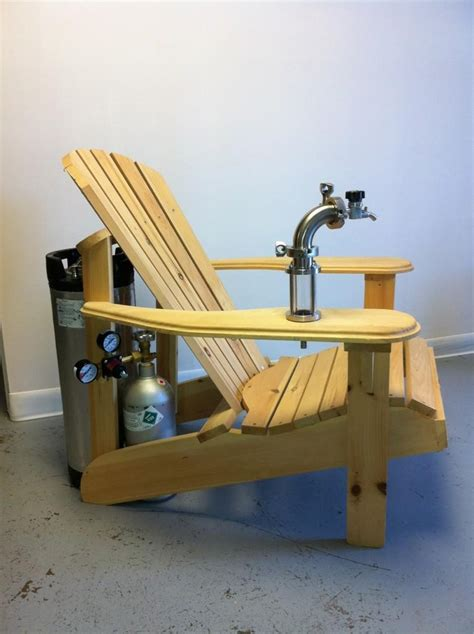dispensing adirondack chair plans muskoka adirondack chair with a keg tap i could see my