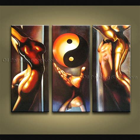 painting decor triptych feng shui zen art contemporary painting interior