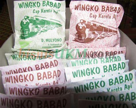 Wingko Babat menikmati wingko babad cap kereta api semarang