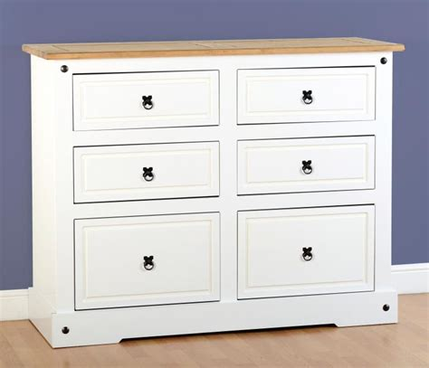 6 Drawer Chest White by White Corona Bedroom Furniture 6 Drawer Chest Flatpack2go