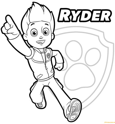 coloring pages paw patrol ryder paw patrol ryder 1 coloring page free coloring pages online