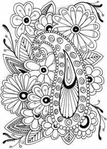 coloring pages for adults printable free flowers coloring pages
