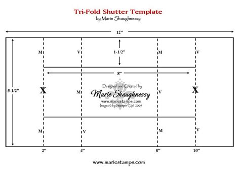 illustrator tri fold and business card template tri fold shutter card template pinteres