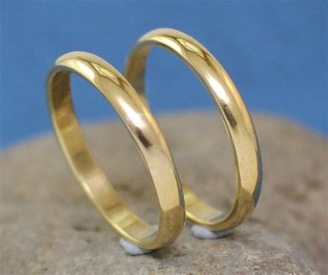 handmade brass rings wedding bands s s