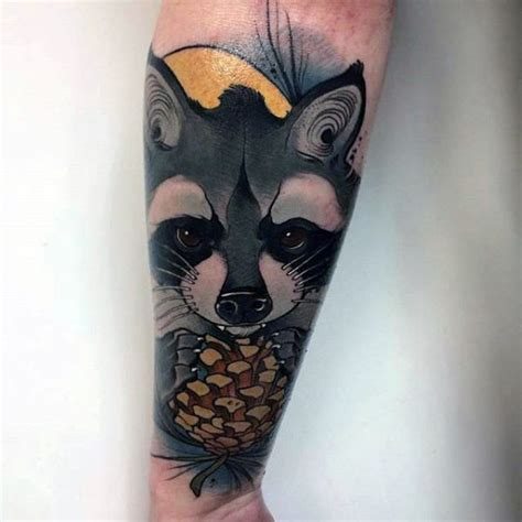 80 raccoon tattoo designs for men critter ink ideas