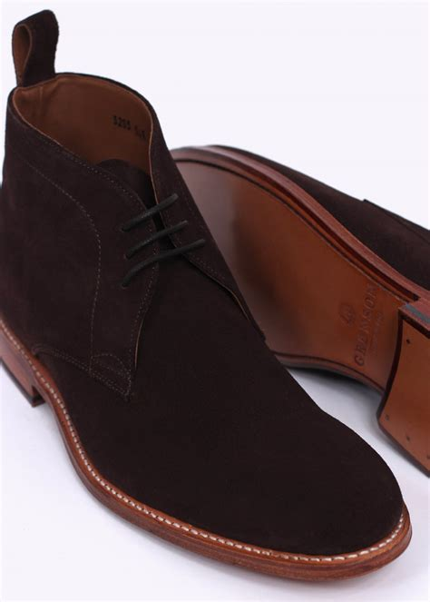 suede chukka boots grenson suede chukka boot chocolate brown