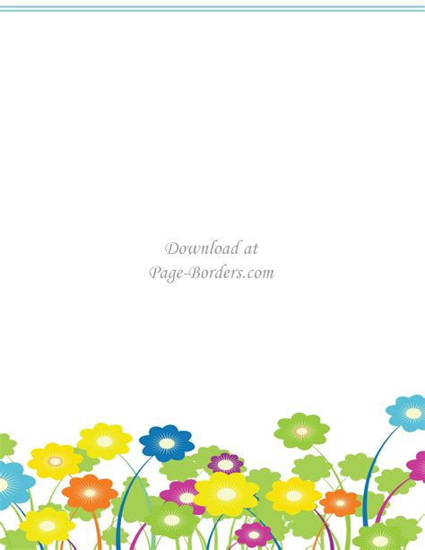 border clipart free flower border template personal commercial use
