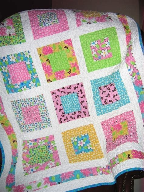 Easy Quilt Patterns Using Quarters by Or Baby Quilt Pattern And Easy Layer Cake Or
