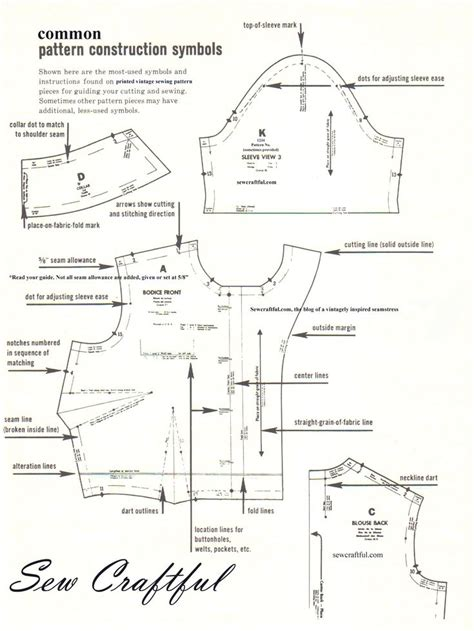 sewing pattern markings and symbols quot common pattern construction symbols quot instructions found