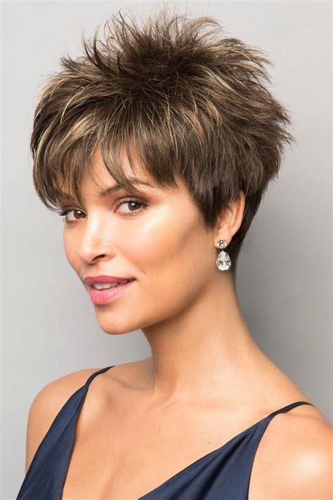 voluminous spiky cut short haircut styles