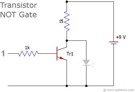 transistor inverter gate transistor logic not gate inverter