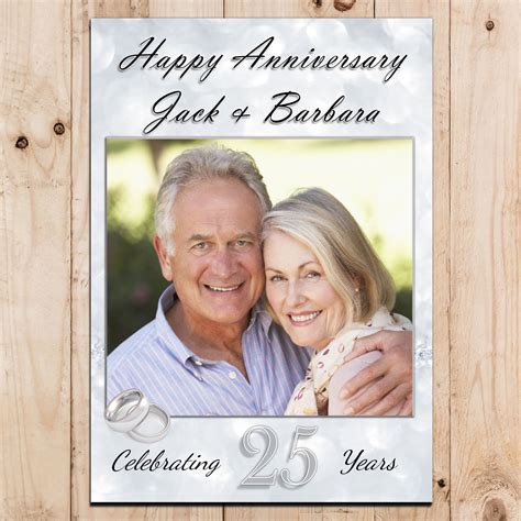 Wedding Anniversary Banners by Personalised 25th Silver Wedding Anniversary Photo