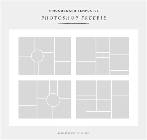 photo board template free moodboard templates stuck with pins