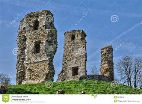 Castle L by The Castle Of Montfort L Amaury Stock Photo