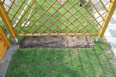 untergrund für terrassendielen rankgitter holz selber bauen bvrao