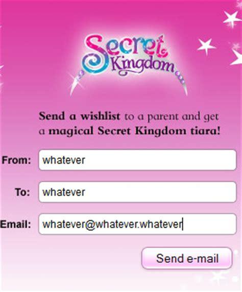 send secret email stardoll free items free secret kingdom dress and tiara