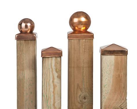 copper l post tops copper fence post cap