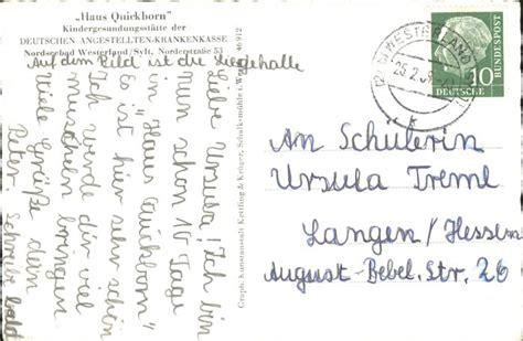 haus quickborn sylt kk63181 westerland sylt kindergenesungsstaette haus