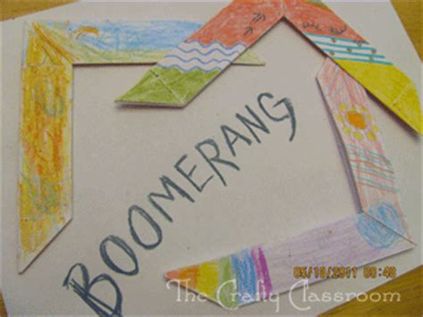 australian crafts for australia crafts boomerang