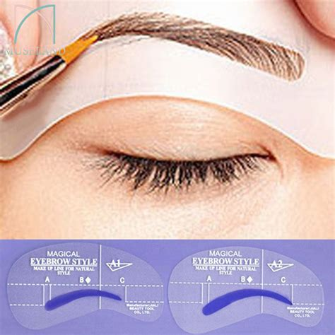 eyebrow shaping template 4 styles set grooming stencil kit shaping diy