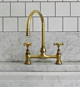 Brass Faucet Kitchen by Brass Is Back Rebecca Hay Interior Design