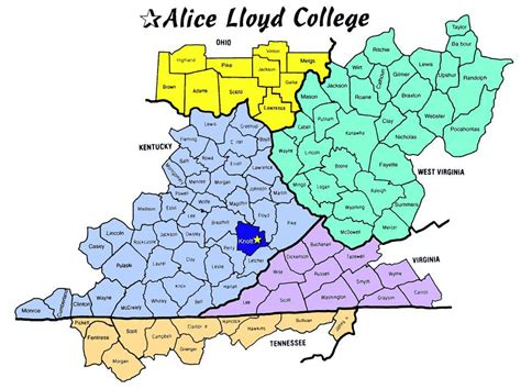 map kentucky and west virginia our service area lloyd college