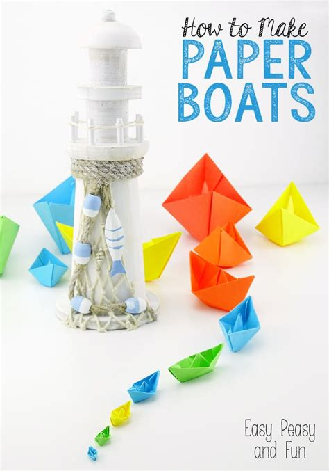 How To Make Paper With Children - how to make a paper boat origami for easy peasy